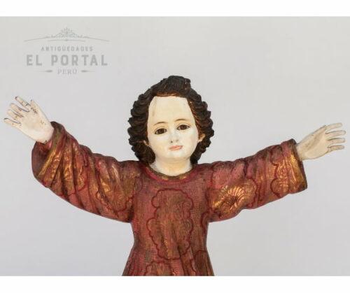 Niño divino en madera tallada y policromada | 1