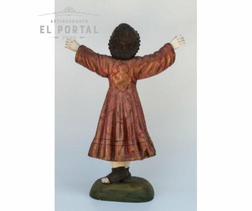 Niño divino en madera tallada y policromada | 3