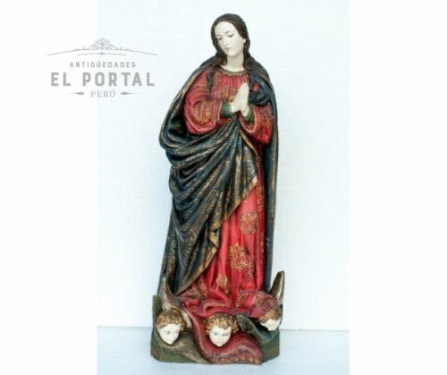 Virgen Inmaculada en madera tallada y policromada | 1