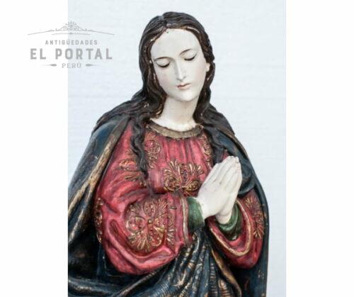 Virgen Inmaculada en madera tallada y policromada | 2