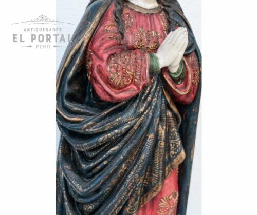 Virgen Inmaculada en madera tallada y policromada | 3