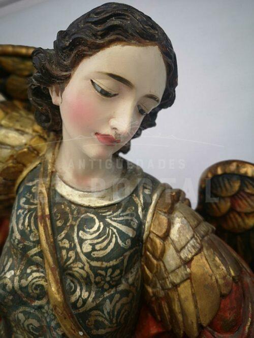 Arcángel San Miguel en madera tallada y policromada | 5