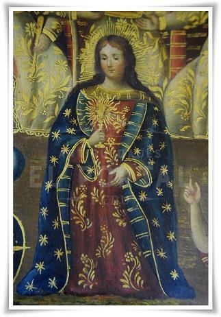 Cofre pintado Coronación de la Virgen María | 9