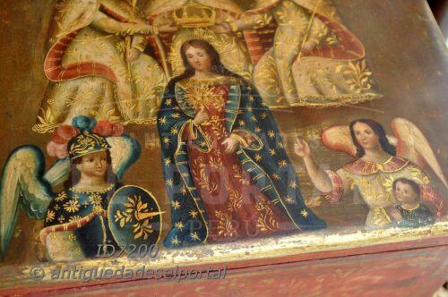 Cofre pintado Coronación de la Virgen María | 12