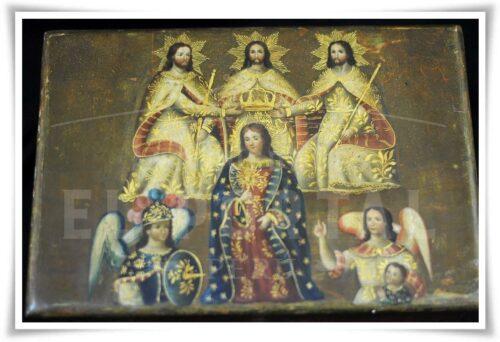 Cofre pintado Coronación de la Virgen María | 3