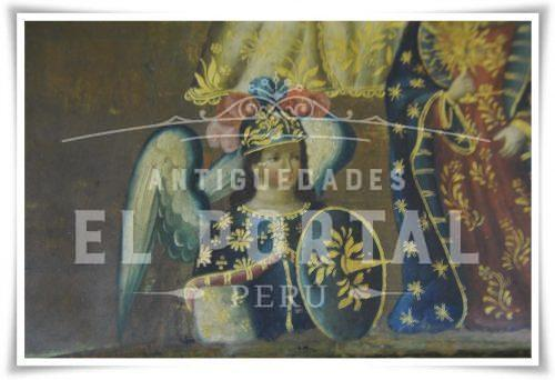 Cofre pintado Coronación de la Virgen María | 7