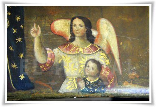 Cofre pintado Coronación de la Virgen María | 8