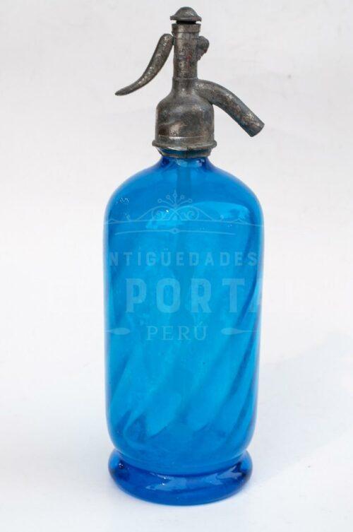 Sifón de vidrio de color azul cobalto | 1