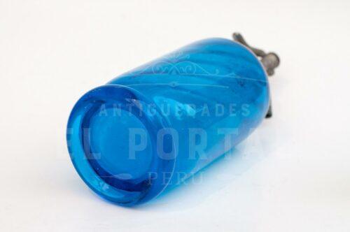 Sifón de vidrio de color azul cobalto | 3