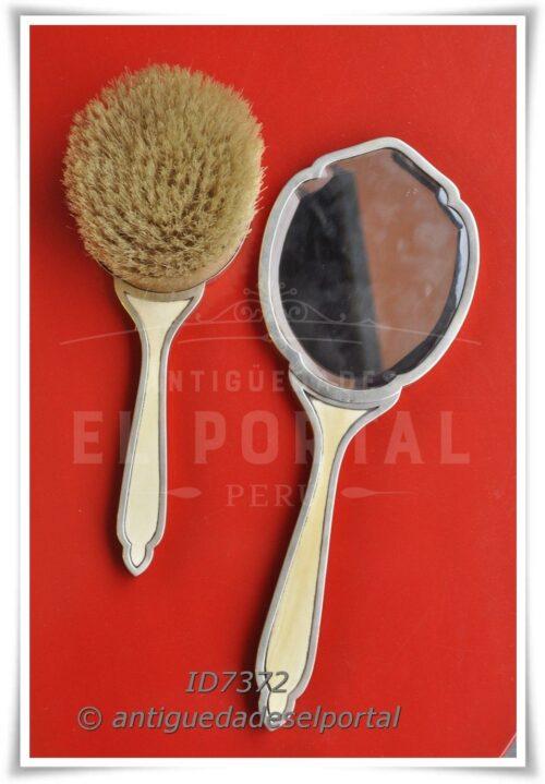 Espejo y escobilla de Plata Inglesa 800 | 1