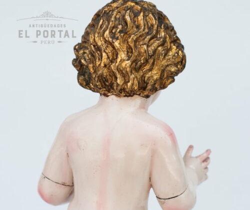 Niño Jesús de vestir en madera tallada | 2