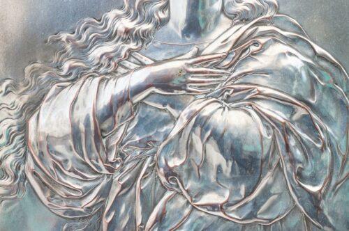 Virgen Inmaculada Placa de plaqué alemán WMF | 1