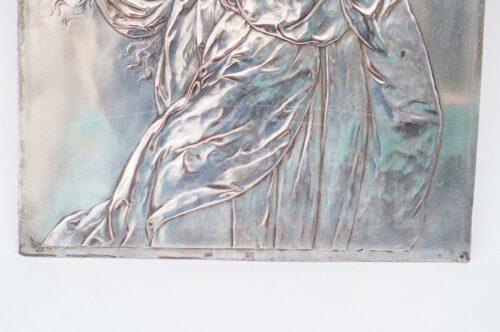 Virgen Inmaculada Placa de plaqué alemán WMF | 2