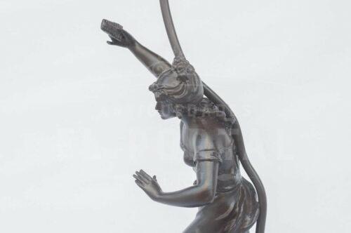 Lámparade mesa de peltre francés  L. F. Moreau | 6