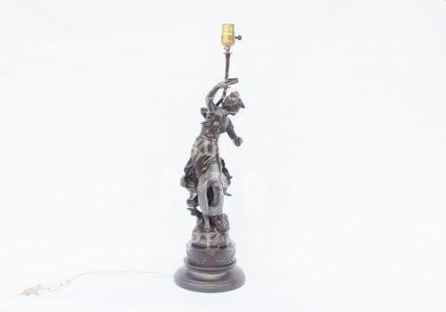 Lámparade mesa de peltre francés  L. F. Moreau | 7