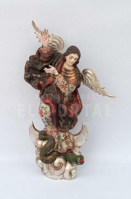 Virgen Inmaculada Apocalíptica en madera tallada | 1