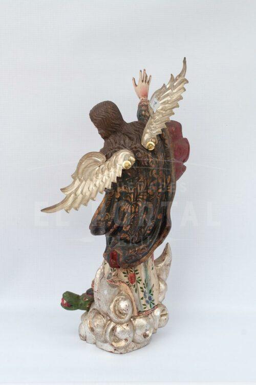 Virgen Inmaculada Apocalíptica en madera tallada | 2