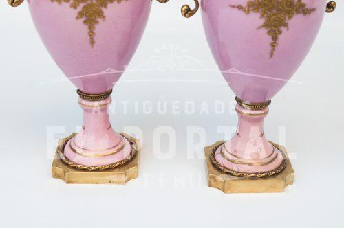 Sevres Ánfora de Porcelana (Par) | 6
