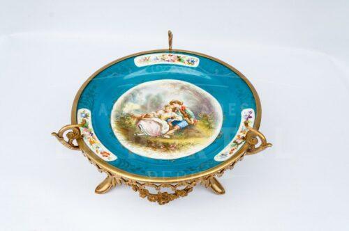 Centro de porcelana Sévres con bronce | 3