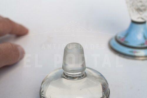 Guilloche perfumero de cristal con Plata Esmaltada | 1