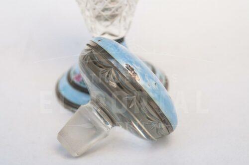 Guilloche perfumero de cristal con Plata Esmaltada | 2