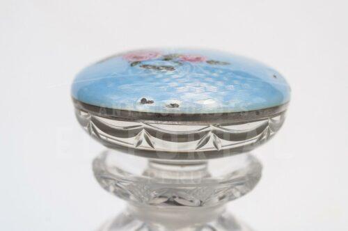 Guilloche perfumero de cristal con Plata Esmaltada | 3