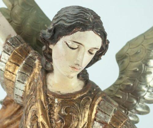 Arcángel San Miguel en madera tallada | 1