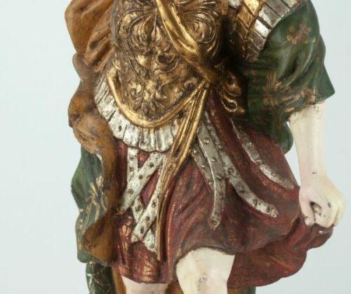 Arcángel San Miguel en madera tallada | 2
