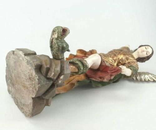 Arcángel San Miguel en madera tallada | 6