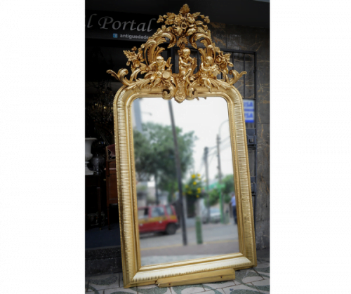 antique french mirror  espejo frances  antiguedades el portal