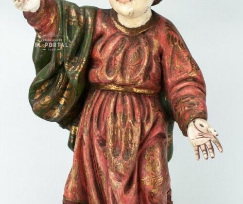 Niño Jesús en madera tallada Policromada | 1