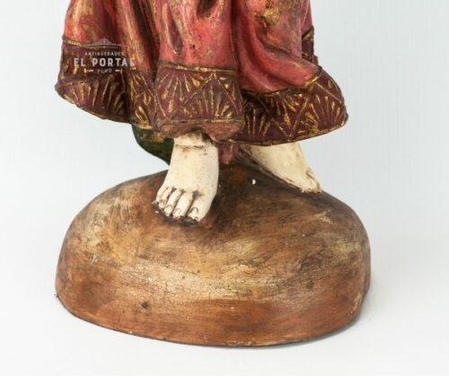 Niño Jesús en madera tallada Policromada | 4
