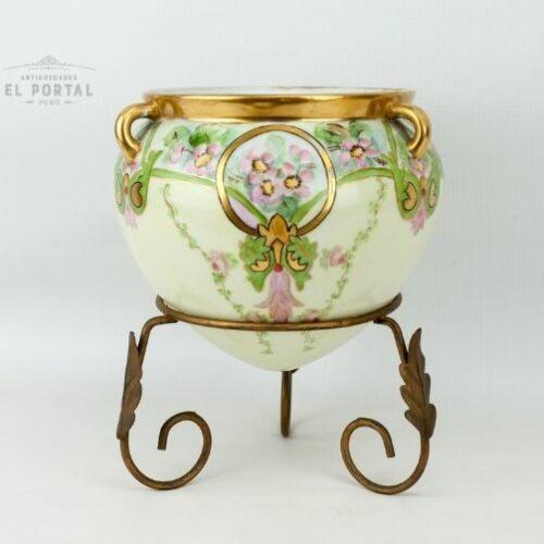 porcelana-macetero-art-nouveau
