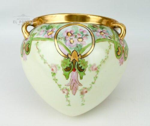 Macetero de porcelana Art Nouveau | 1