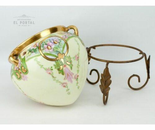 Macetero de porcelana Art Nouveau | 3