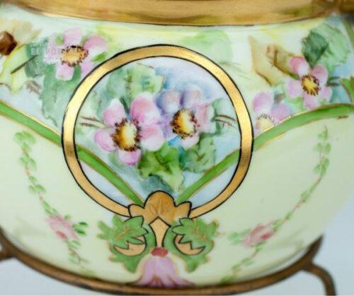 Macetero de porcelana Art Nouveau | 4
