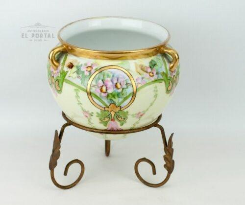 Macetero de porcelana Art Nouveau | 5