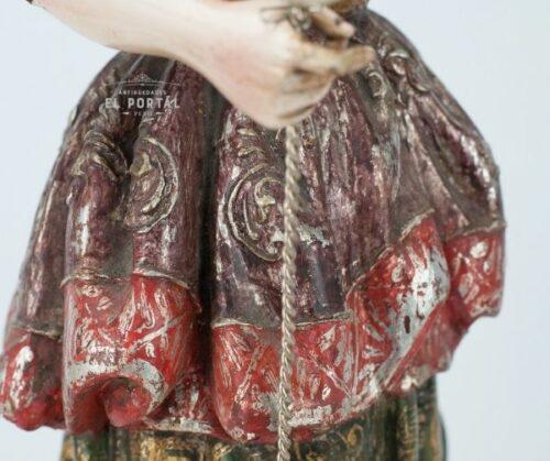 Arcángel San Rafael en madera tallada y policromada | 3