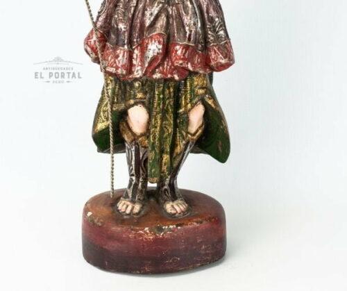 Arcángel San Rafael en madera tallada y policromada | 5