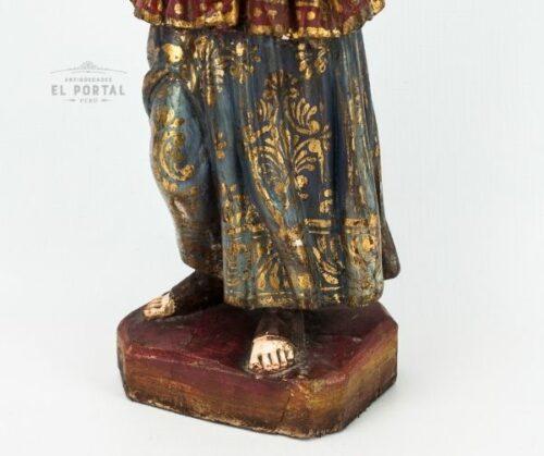 Arcángel San Gabriel en madera tallada policromada | 4