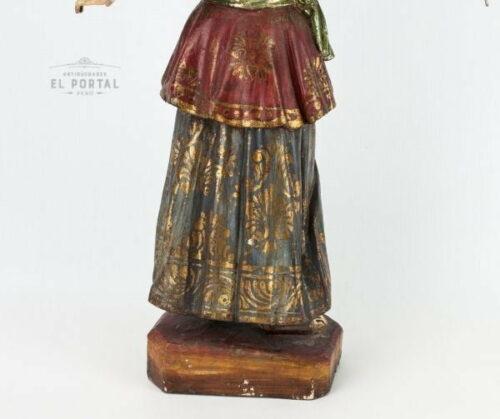 Arcángel San Gabriel en madera tallada policromada | 5