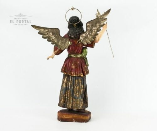 Arcángel San Gabriel en madera tallada policromada | 6