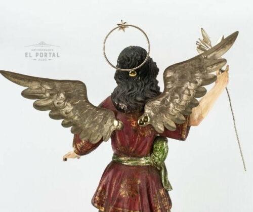 Arcángel San Gabriel en madera tallada policromada | 3