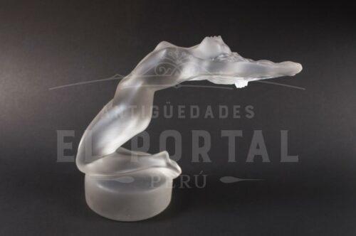 Lalique France Art Deco figura de mujer de cristal | 1
