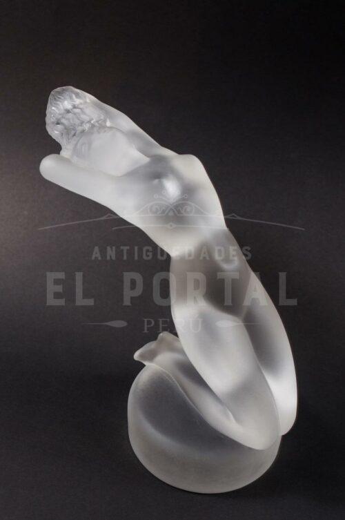 Lalique France Art Deco figura de mujer de cristal | 3
