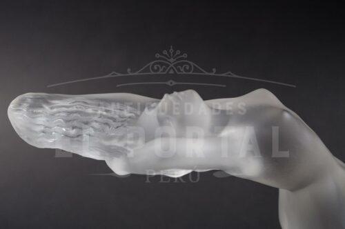 Lalique France Art Deco figura de mujer de cristal | 4