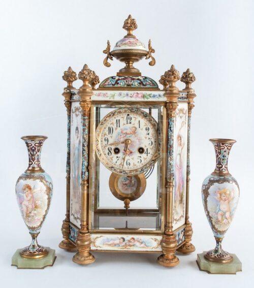 Reloj  Sevres pintado a mano siglo XIX | 1