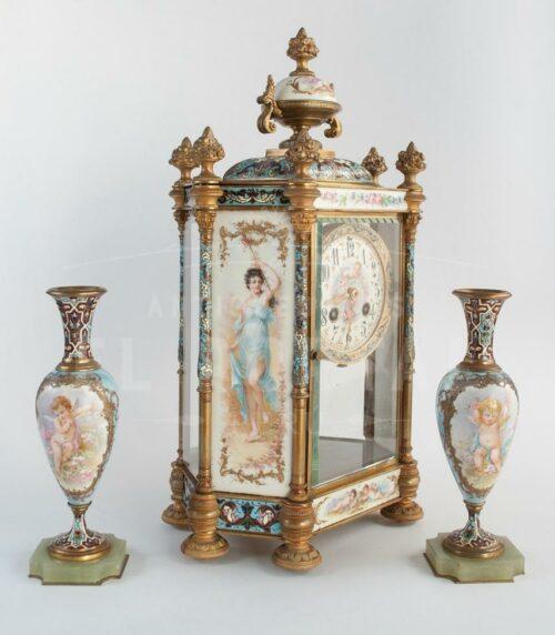 Reloj  Sevres pintado a mano siglo XIX | 2