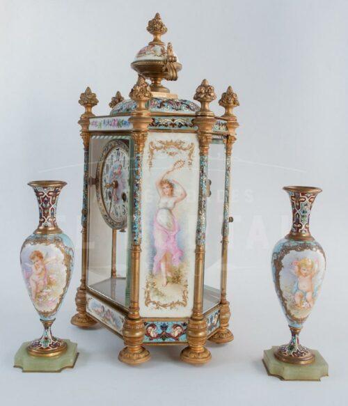 Reloj  Sevres pintado a mano siglo XIX | 3