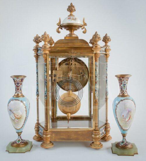 Reloj  Sevres pintado a mano siglo XIX | 4